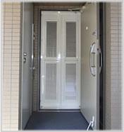 玄関網戸マンションタイプ カラー:ホワイトカラー