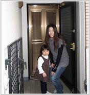 玄関網戸マンションタイプ カラー:ブロンズカラー