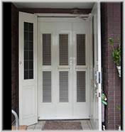 玄関網戸 戸建タイプ カラー:ホワイトカラー