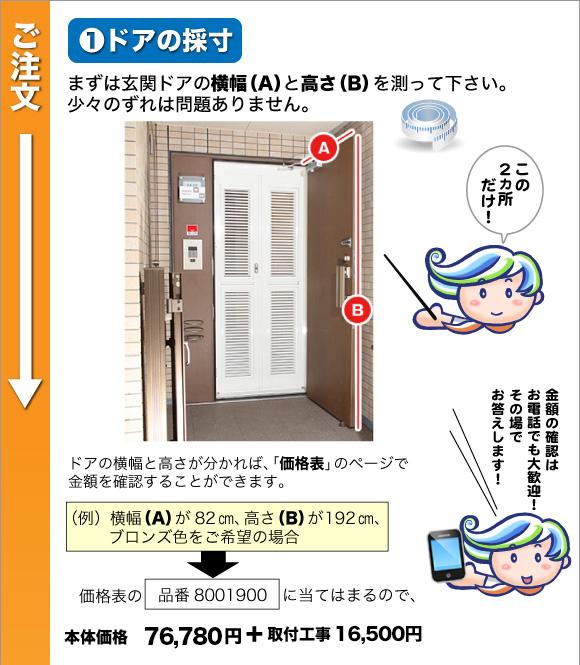 ドアの採寸