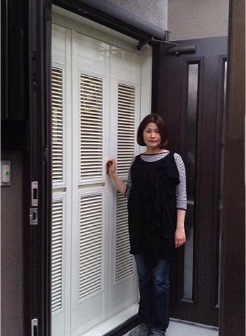 玄関網戸戸建てタイプ