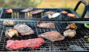 バーベキューのお肉の量